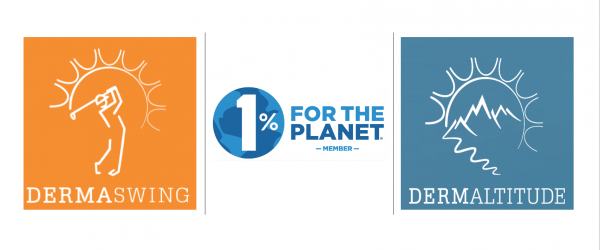 DERMASWING, DERMALTITUDE, DERMALIPS sont membres de l'association 1% FOR THE PLANET